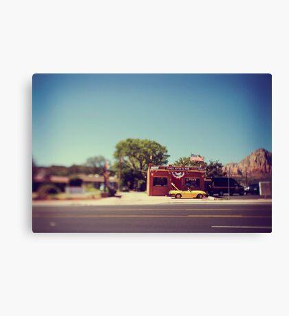 A Cool Yellow Car Canvas Print