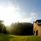 Sunrise on Old Barn by Kent Nickell