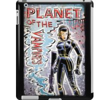 Planet of the Vampires, vampire, art, alien, aliens, sci fi, science fiction, horror, space, girl, Terrore, nello, spazio, joe badon, mario bava, Evi Marandi, blaster, gun iPad Case/Skin