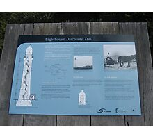Aireys Inlet Light House  board (Victoria Australia) Photographic Print