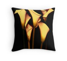 Yellow Calla  Lily Throw Pillow