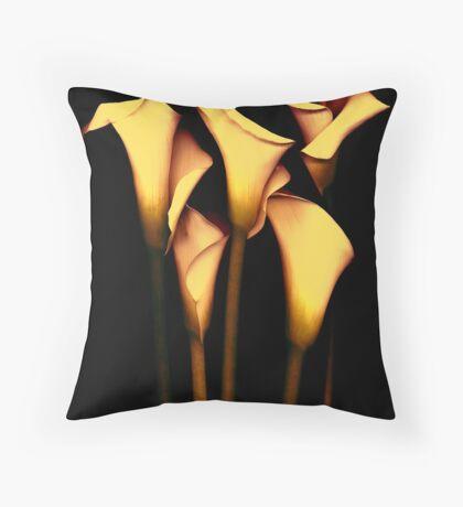 Yellow Calla  Lily Throw Pillow