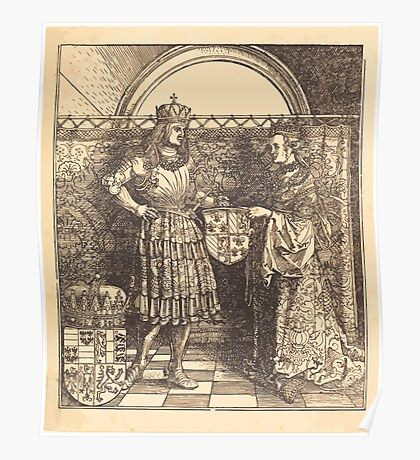 Albrecht Dürer or Durer The Betrothal of Maximilian with Mary of Burgundy (2) Poster