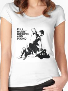 MMA Full mount ground and pound BJJ  Women's Fitted Scoop T-Shirt