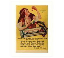 Advertisements Photoplay Magazine April through September 1918  0632 Adams Pure Chewing Gum Art Print