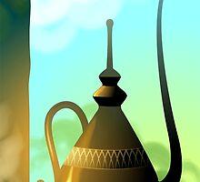 Golden Arabic tea pot by tillydesign