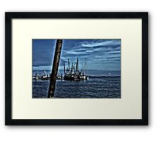 Fishing Boats In Harbor Framed Print