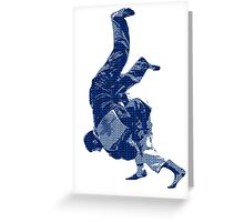 Judo Throw in Gi Greeting Card