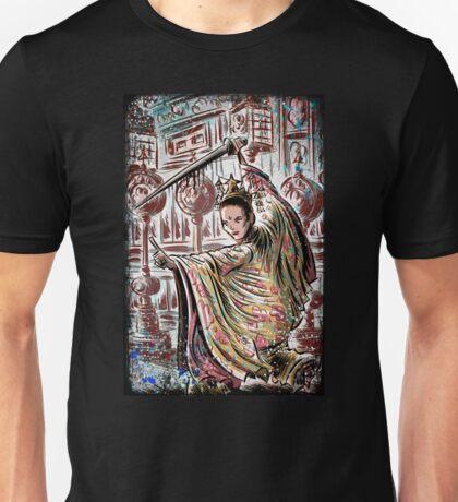 House of flying, daggers, art, print, japanese, samurai, chinese, karate, kung fu, wire fu, Yimou, Zhang, Xiao, Mei, Ziyi, Zhang, girl, female, joe badon Unisex T-Shirt