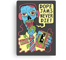 Dope Jams Zombie Canvas Print