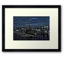 Fishing Fleet In Harbor Framed Print