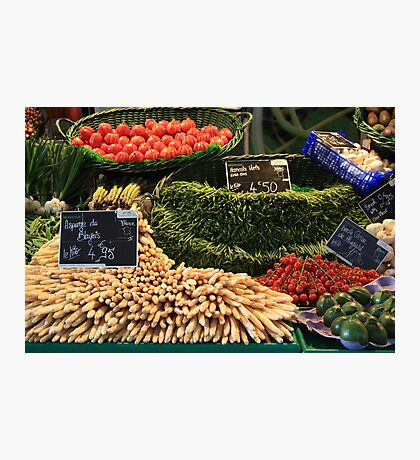 Market in Cahors Photographic Print