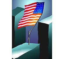 Flying flag of USA  Photographic Print
