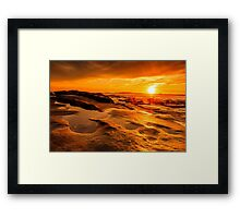 Sunset at Windansea Beach Framed Print