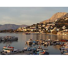 Late Afternoon Light over the Marina. Kalymnos Photographic Print