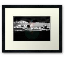 Hay Bluff stormy Framed Print