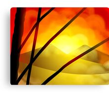 Beauty of hills in the sunset	 Canvas Print