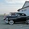 Classic 50&#x27;s Plymouth Coupe at the Beach by Jack McCabe