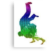 Judo Throw in Gi Multicolour  Canvas Print
