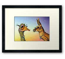 Chatting Up The Birds Framed Print