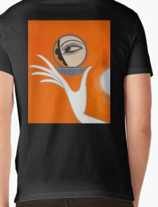 Playful Art Deco cute makeup fashion art Mens V-Neck T-Shirt