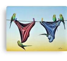 Double Budgie Smugglers Canvas Print