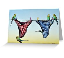 Double Budgie Smugglers Greeting Card