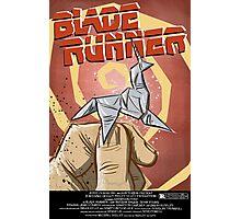 Blade Runner, Art, movie, film, sci fi, science fiction, unicorn, origami, origamy, joe badon, do androids dream of electric sheep, book, philip k dick, bladerunner Photographic Print
