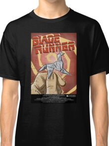 Blade Runner, Art, movie, film, sci fi, science fiction, unicorn, origami, origamy, joe badon, do androids dream of electric sheep, book, philip k dick, bladerunner Classic T-Shirt