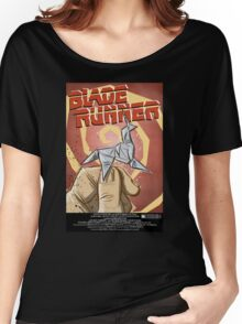 Blade Runner, Art, movie, film, sci fi, science fiction, unicorn, origami, origamy, joe badon, do androids dream of electric sheep, book, philip k dick, bladerunner Women's Relaxed Fit T-Shirt