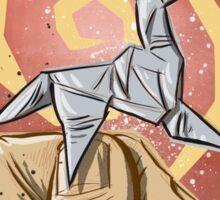 Blade Runner, Art, movie, film, sci fi, science fiction, unicorn, origami, origamy, joe badon, do androids dream of electric sheep, book, philip k dick, bladerunner Sticker