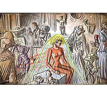 bladerunner, pris, 80's, do androids dream of electric sheep, science fiction, joe badon, darryl hannah, sci fi, blade runner, ridley scott Photographic Print