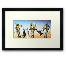 Hear No Evil, Speak No Evil, See No Evil Framed Print