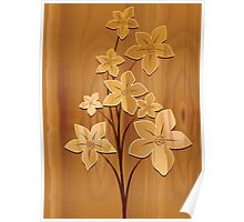 Charming brownish flowers	 Poster