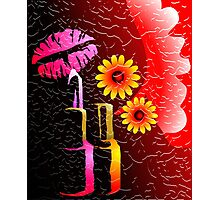Lipstick eagerly waiting to touch the charming lips	 Photographic Print