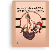 Pin upped Princess Leia  Canvas Print