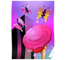 Wrong assumption of the heart as flower by the butterflies Poster