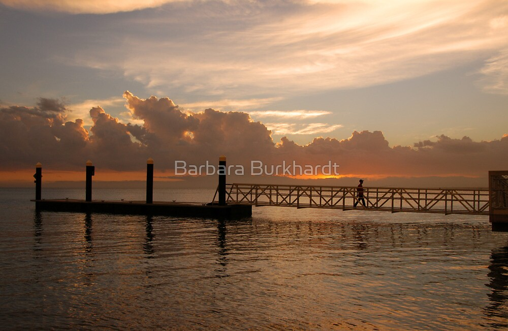 Bongaree Jetty - Bribie Island by Barbara Burkhardt