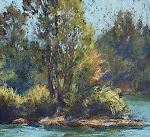 Hastings River, Rocks Ferry  - paint out by Terri Maddock