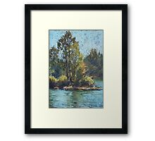 Hastings River, Rocks Ferry  - paint out Framed Print
