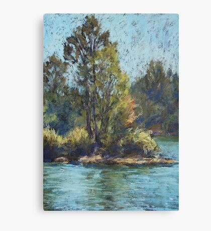 Hastings River, Rocks Ferry  - paint out Canvas Print