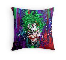 Abstract Joker Throw Pillow