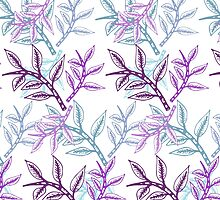 Romantic/Bohemian Leaf pattern  by Didi Kasa