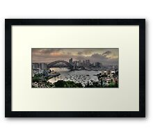 Brooding - Moods Of A City - Sydney Harbour, Sydney - The HDR Experience Framed Print