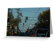 Turn Right Greeting Card