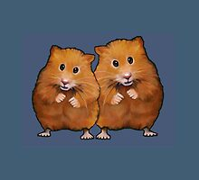 Hamster Couple on Blue, Original Illustration by Joyce Geleynse
