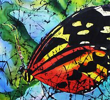 Butterfly on silk by © Pauline Wherrell