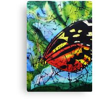 Butterfly on silk Canvas Print