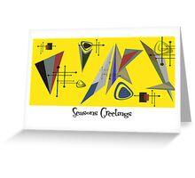 Seasons Greetings 1950's Style 2 Greeting Card