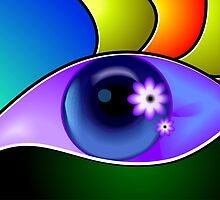 Beauty of an eye in attractive colour back ground by tillydesign